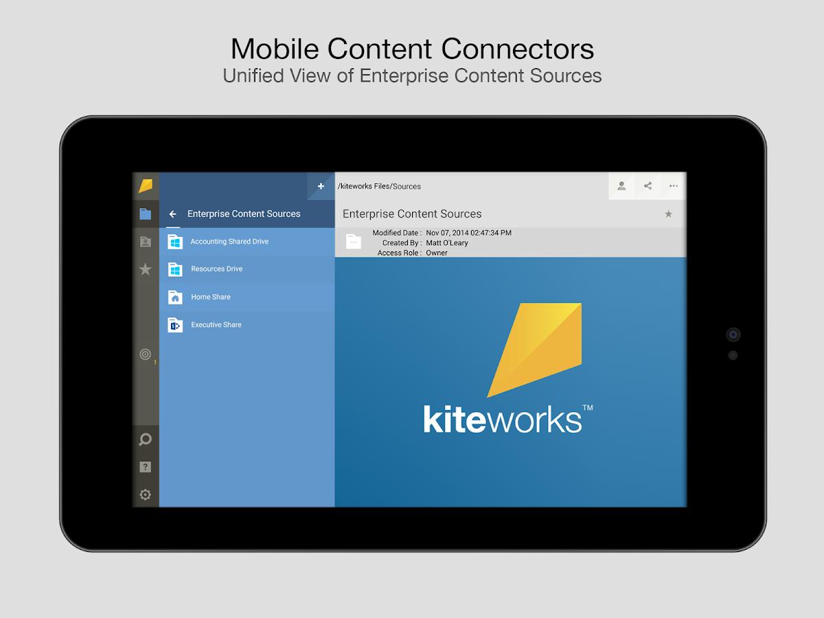 kiteworks - screenshot