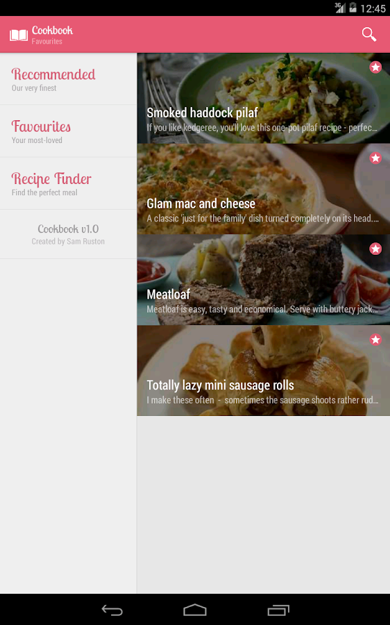 Cookbook - Beautiful Recipes - screenshot
