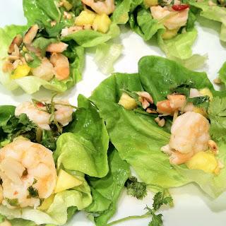 Summer-Fresh Shrimp Thai Lettuce Appetizers.