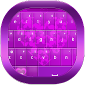 Hearts Purple Keyboard GO