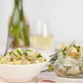 Potato Salad with Chive & Garlic Blossoms