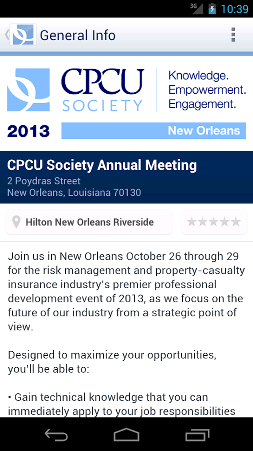 CPCU Society Annual Meeting - screenshot