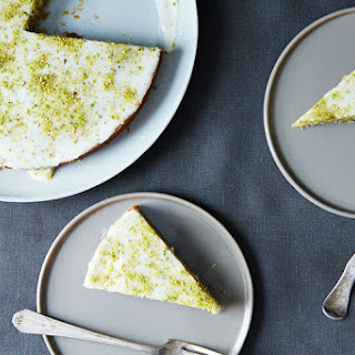 Pistachio Cake with Lemon, Cardamom, and Rose Water.