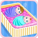 Newborn twins girls games icon