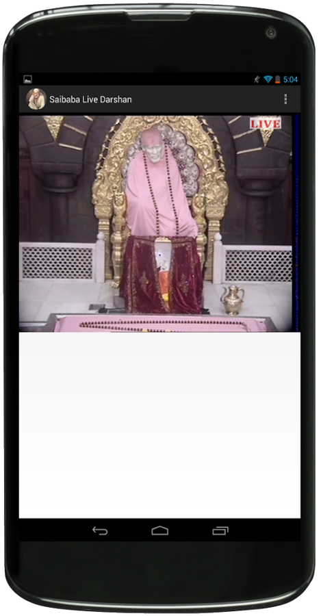 Screenshots of Shiridi Saibaba Live Darshan 2 for iPhone