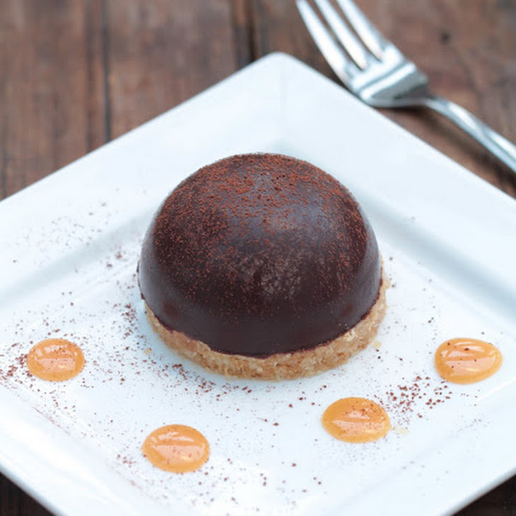 Chocolate Mousse Dome with Caramel Ganache Recipe
