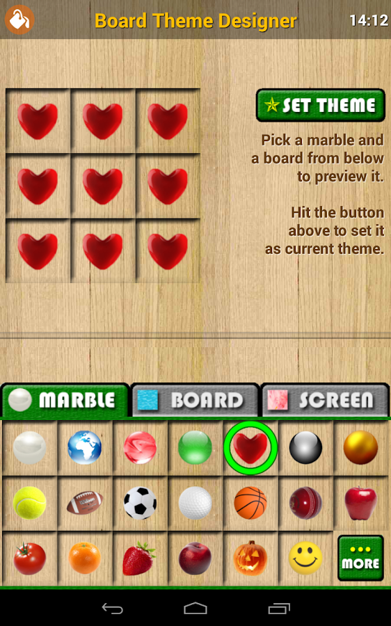MARBLE Solitaire- screenshot