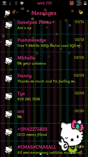 Simple Kitty Go sms