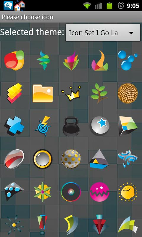 Icon Set I Go Launcher - screenshot