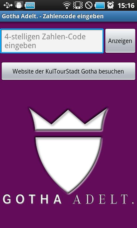 Gotha App - screenshot