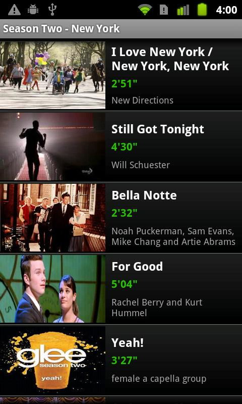 Glee Songs - screenshot