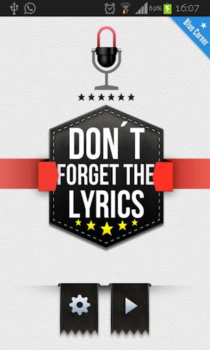 Don't Forget the Lyrics 2014 Screenshot