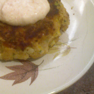 Smoked Troutcake with Apples and Horseradish with Creme Fraiche Horseradish Sauce
