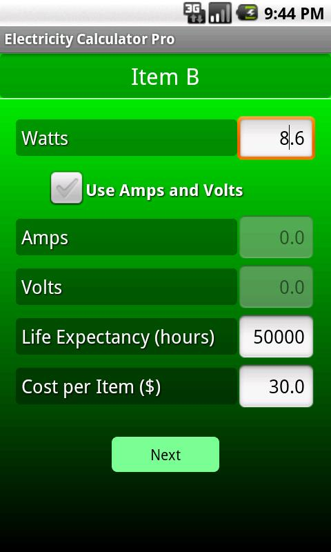 Electricity Calculator Pro- screenshot