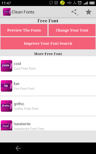 Free Clean Fonts for FlipFont