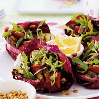 Salade Van Geroosterde Paprika, Courgette En Aubergine