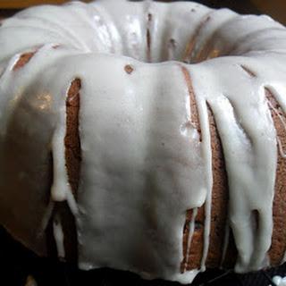 Banana Bundt Cake with Maple Rum Glaze