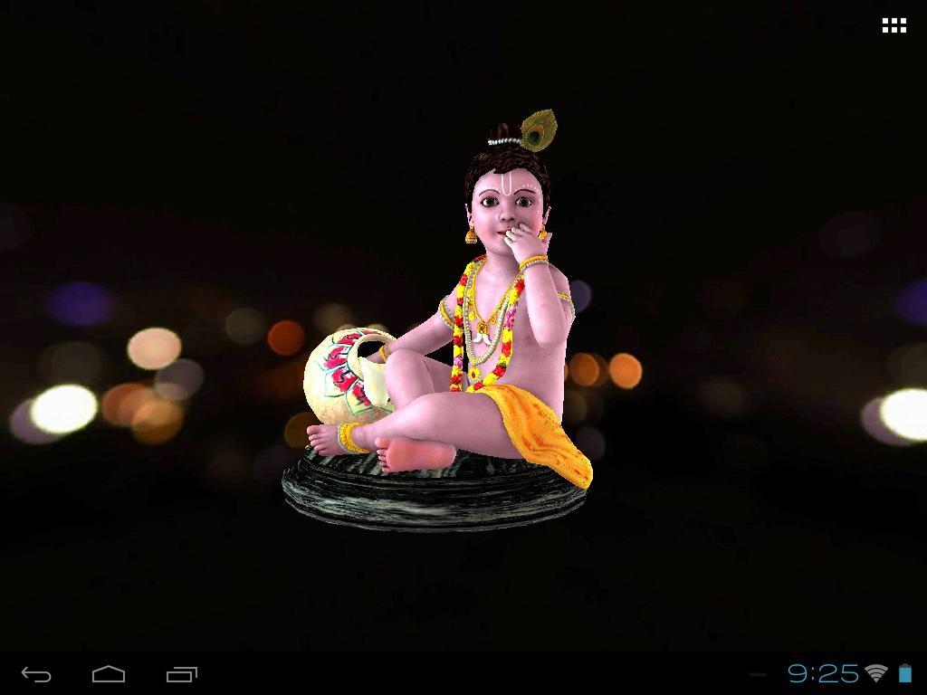3D Krishna (Laddu Gopal) Live Wallpaper