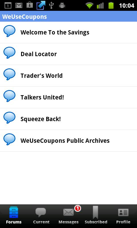 WeUseCoupons Coupon Forum - screenshot