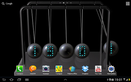 Newton's cradle live wallpaper