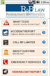 Romanucci and Blandin PI App- screenshot thumbnail