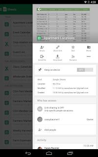 Google Таблицы screenshot