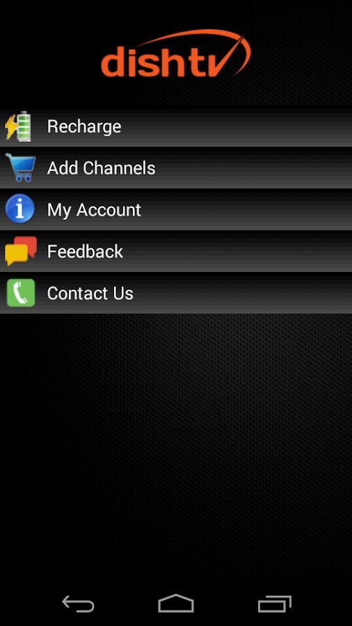 My Account-DishTV- screenshot