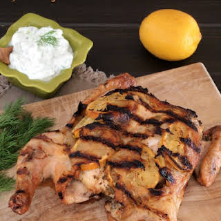Garlicky Greek Chicken and a #ChickenDotca Giveaway.