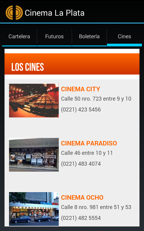 Cinema La Plata- screenshot