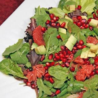 Avocado, Grapefruit, and Pomegranate Salad.