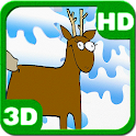 Funny Deers Merry Christmas 3D icon