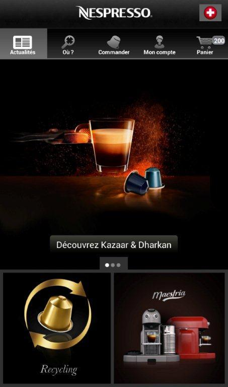 Nespresso: screenshot