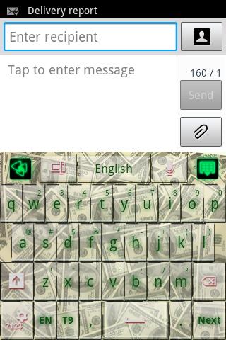 GO鍵盤綠色錢