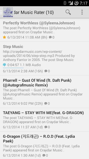 CraydarMusic Rater