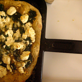 Goat Cheese, Spinach & Lemon Pizza.