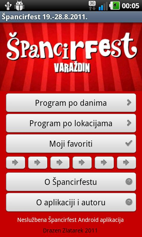 Spancirfest - screenshot