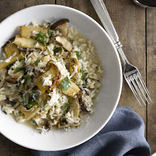 Truffle Risotto with Trumpet Mushrooms.