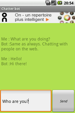 Chatter Bot- screenshot