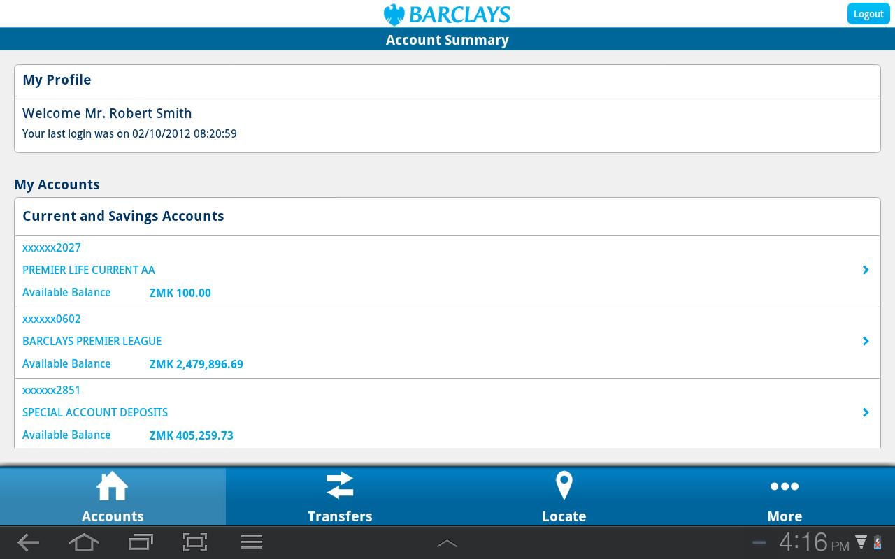 Barclays Zambia - screenshot