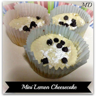 Low Calorie Mini Lemon Cheesecake
