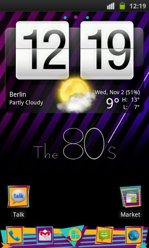 80's Theme 4 Go Launcher Ex- screenshot