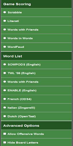 Cheat at Wordfeud