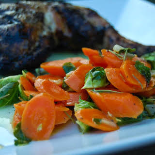 Sauteed Carrots & Brussels Sprouts.