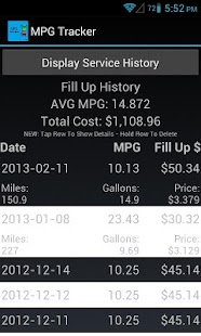 MPG Tracker - screenshot thumbnail