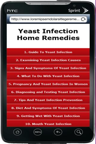 Yeast Infection Home Remedy- screenshot