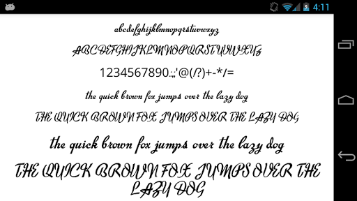 Fonts for FlipFont 50 Brush