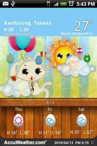 9s-Weather Theme+ (Easter)- screenshot