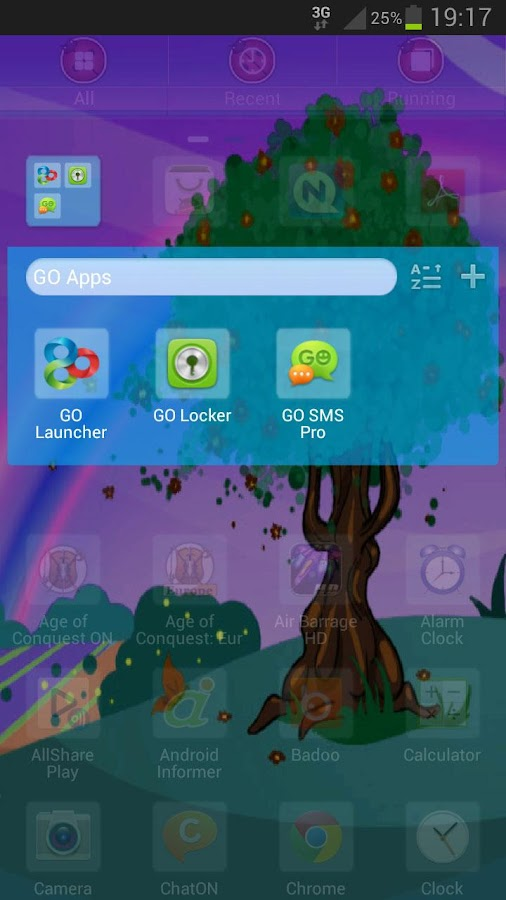 GO Launcher EX Theme Spring- screenshot