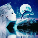 Lady Whit Dolphin Live Wallpap logo