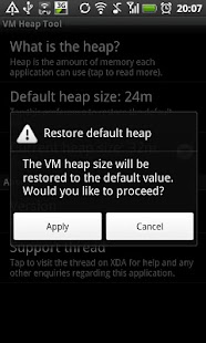 VM Heap Tool (root only) - screenshot thumbnail